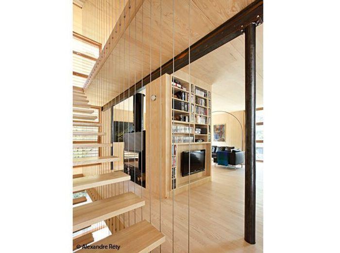 Visitez cette maison 100 en bois elle d coration for Decoration maison en bois