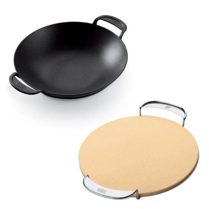 Le wok et la planche à pizza