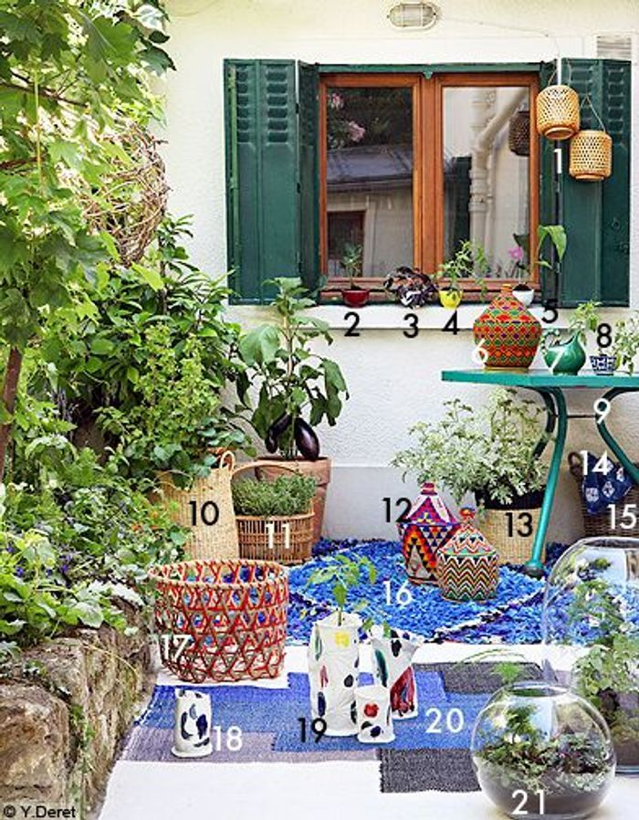 Decoration shopping tendance balcon terrasse verdure fenetre bobo ethnique
