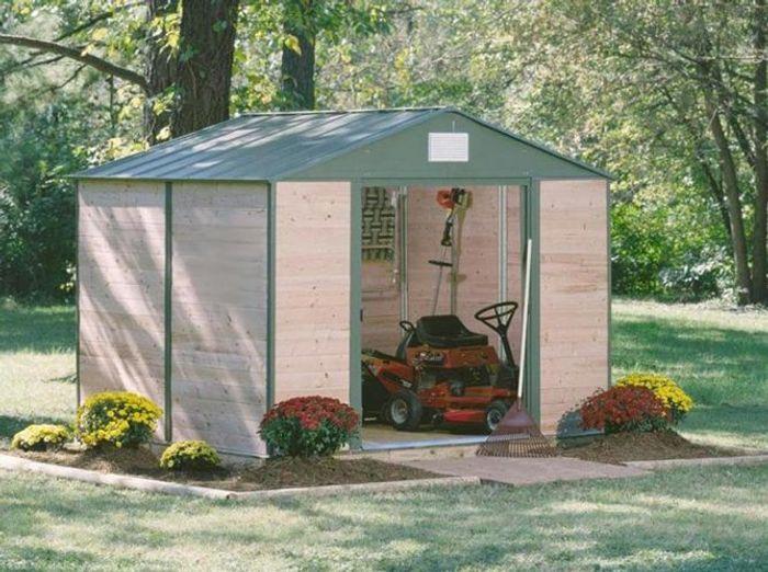 Abri de jardin bois metal chalet jardin