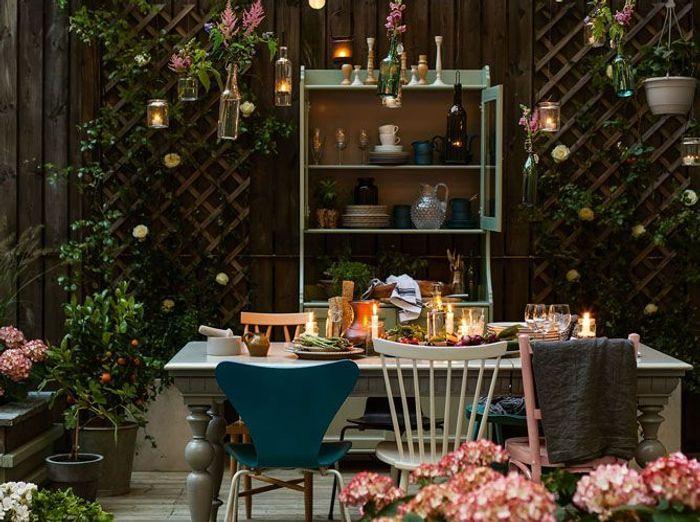 D co estivale 21 jardins pour vous inspirer elle d coration - Deco table exterieur ...