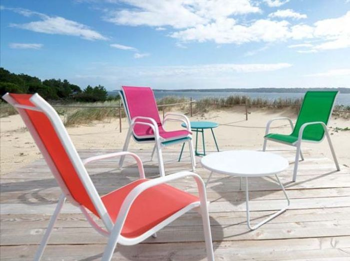 chaises colores - Chaise Jardin Colore