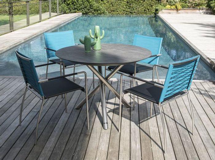 Truffaut la collection jardin 2016 elle d coration - Table ronde exterieur ...