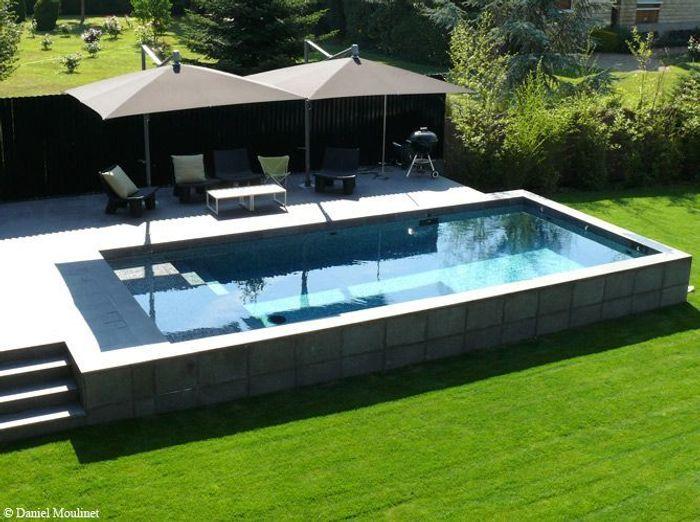 Une piscine pour tous les styles elle d coration for Piscine jardin rectangle