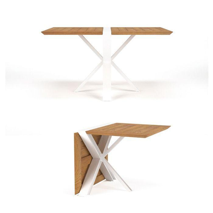 Une table de jardin extensible