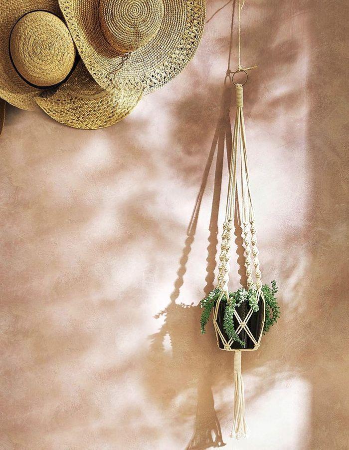 Pot à fleurs suspendu en macramé Cyrillus