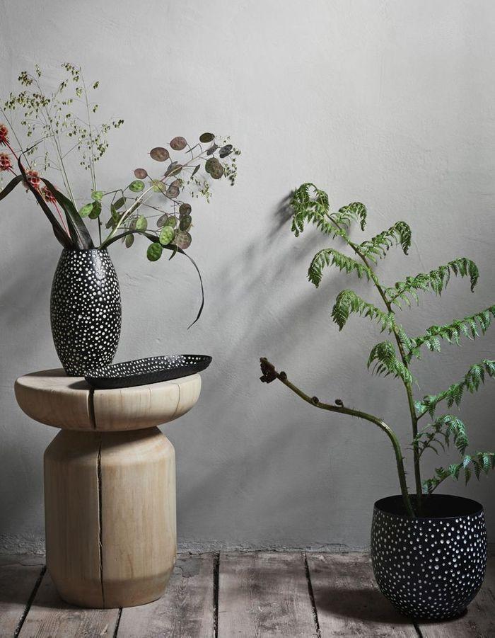 Vase et cache-pot à pois H&M Home