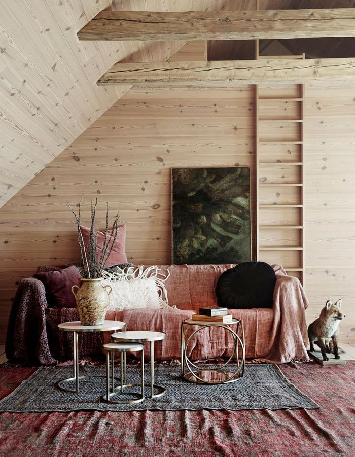 Un salon terracotta