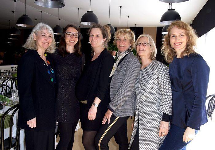 Emmanuelle Javelle, Clémence Leboulanger, Barbara Bourgois, Brigitte Huard et Mari Pietarinen (ELLE Décoration).