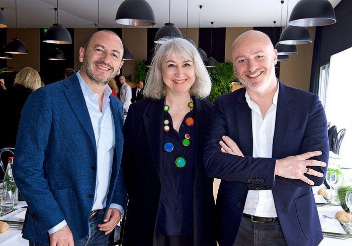 Laurent Croissandeau (architecte), Catherine Scotto (ELLE Décoration), Stéphane Berthelot (Lagardère Active)