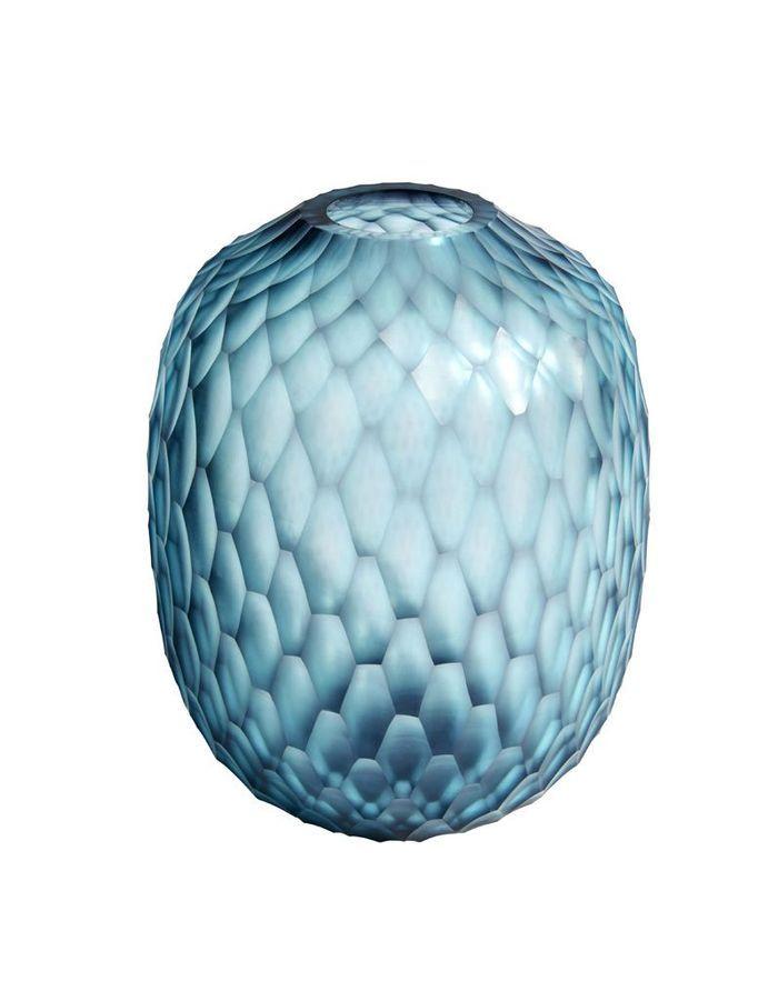 Vase en verre taillé Habitat