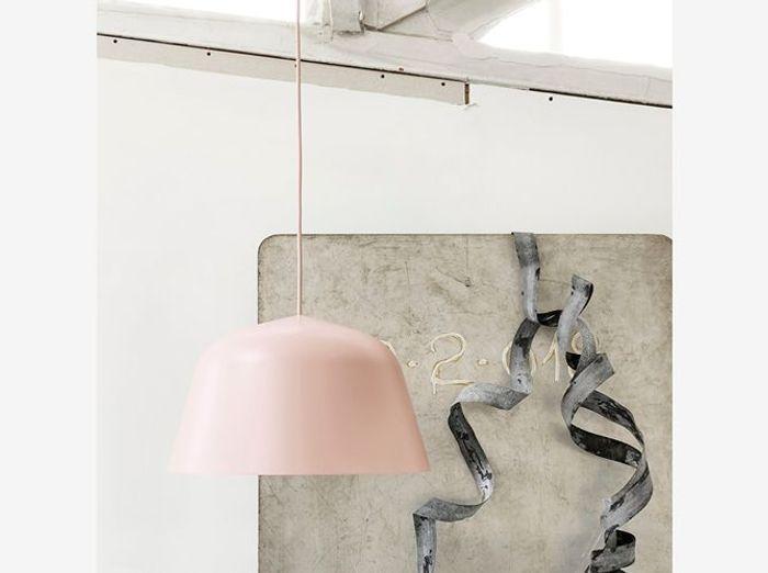 Lampe suspension rose