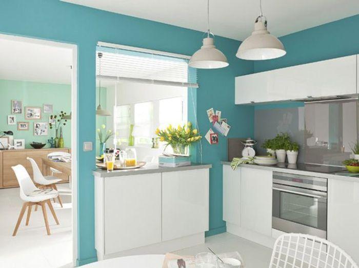 Le bleu turquoise dans la cuisine