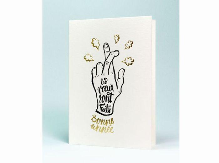 Les plus belles cartes pour crire ses v ux elle - Carte de voeux personnalisee photo ...