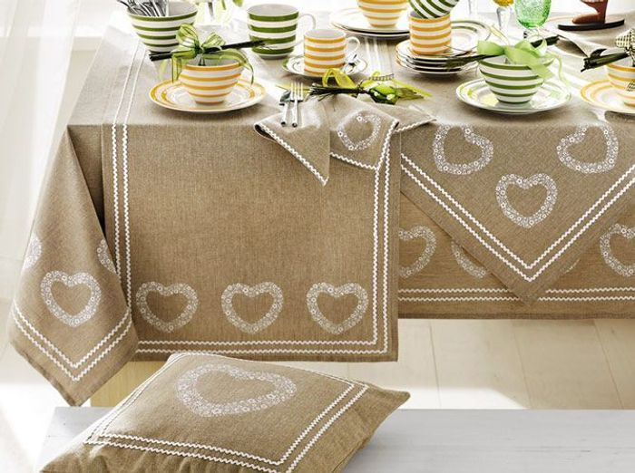Deco campagne linge de table
