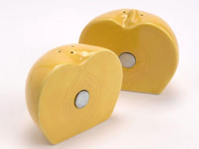 Deco jaune saliere poivriere