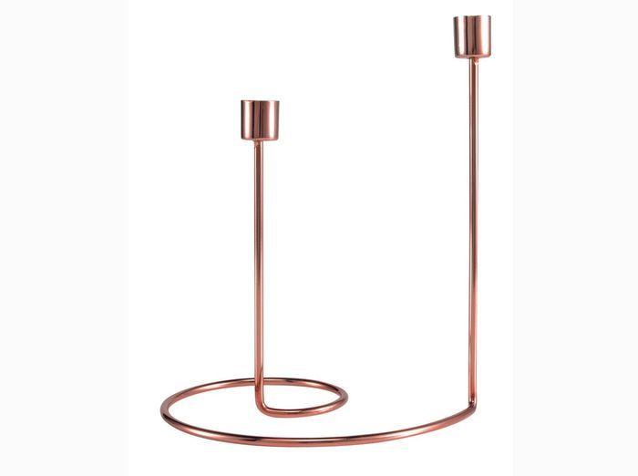 Bougeoir en cuivre design