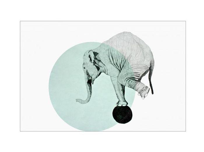 """Affiche """"Éléphant"""""""