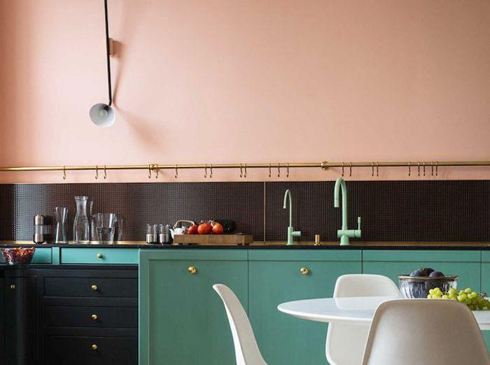 Cuisine rose et verte design