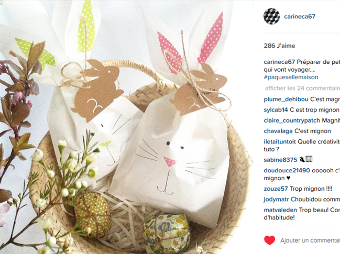 Photo Decoration Paques Instagram Lapin