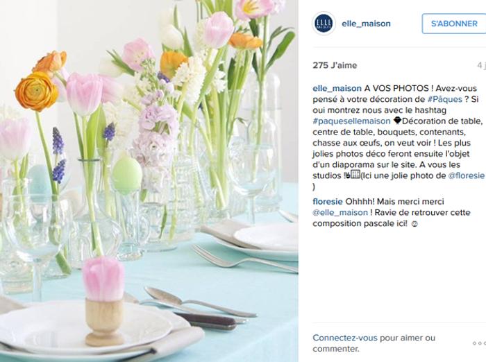 Deco Table Fleurie Pour Paques