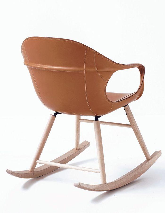 Rocking-chair en cuir