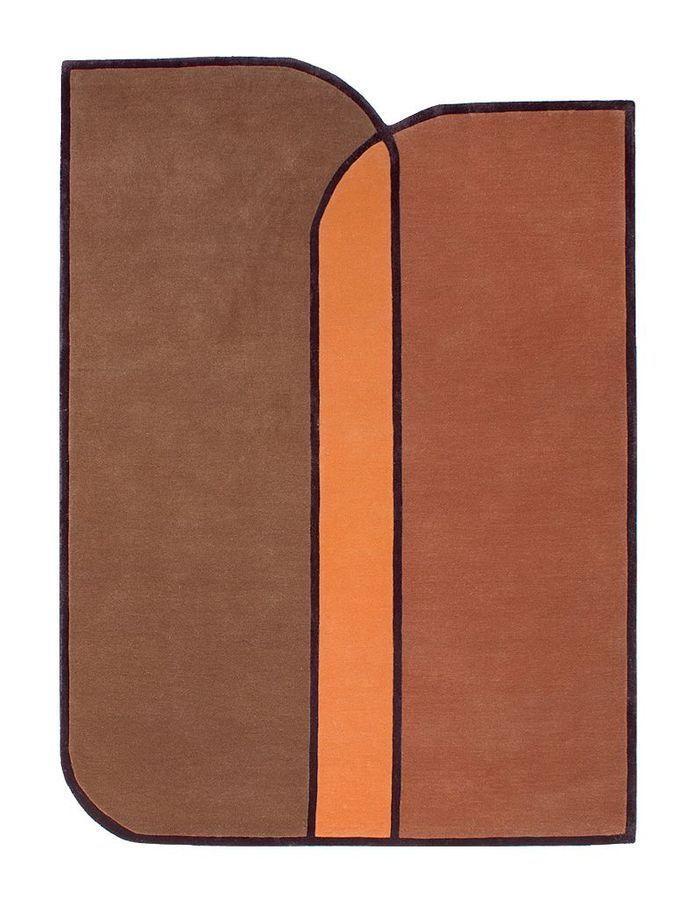 Un tapis orange rétro