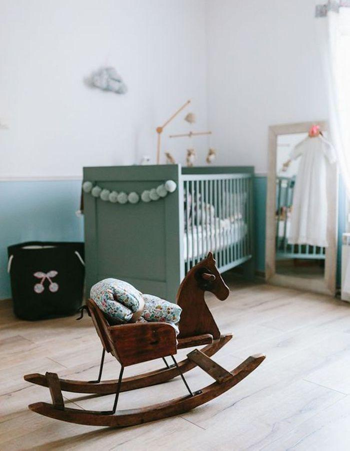 chambre de b b 25 id es pour une fille elle d coration. Black Bedroom Furniture Sets. Home Design Ideas