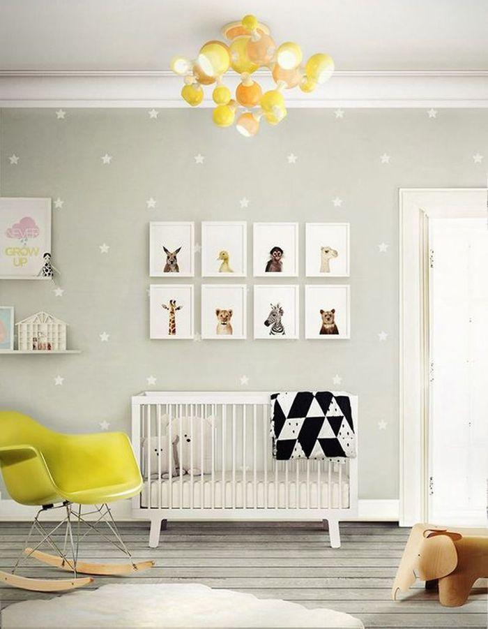 Une chambre de bébé design