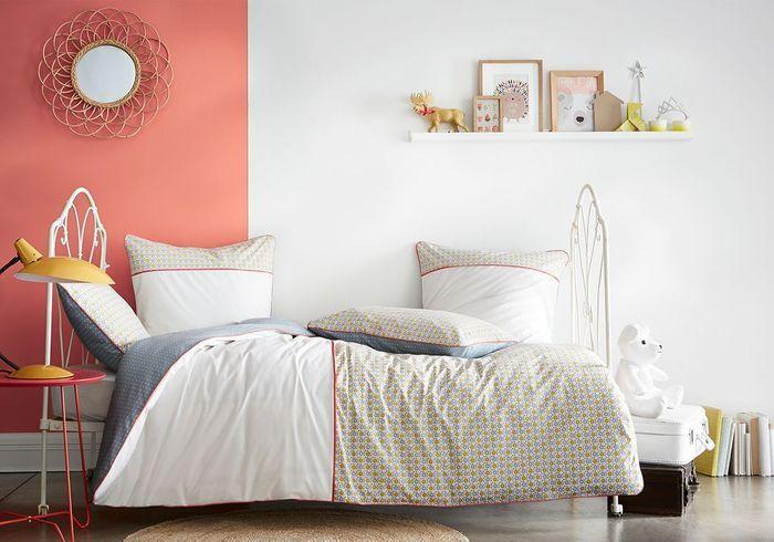 Parure de lit pour enfant Blanc Cerise