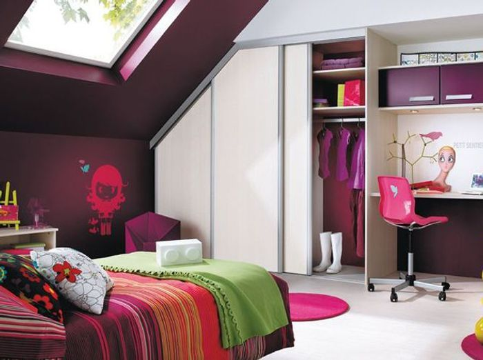 5 belles chambres d enfant am nag es dans les combles. Black Bedroom Furniture Sets. Home Design Ideas