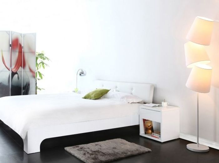 Chambre design blanche miliboo