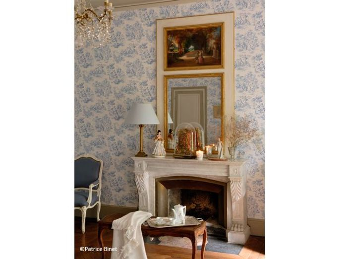 great chambre romantique toile de jouy with abat jour romantique chambre. Black Bedroom Furniture Sets. Home Design Ideas