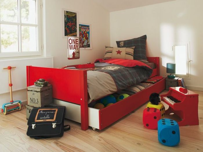 Chambres de gar on 40 super id es d co elle d coration for Chambre d enfant garcon