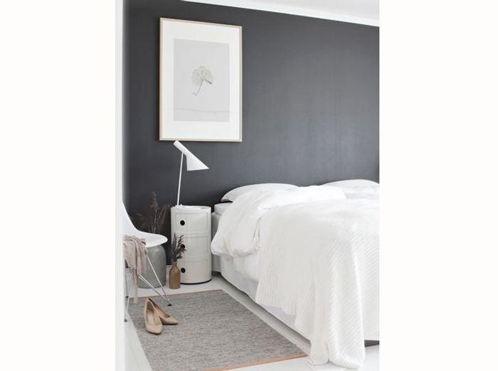 Chambre on mise sur des murs color s elle d coration - Chambre mur gris ...