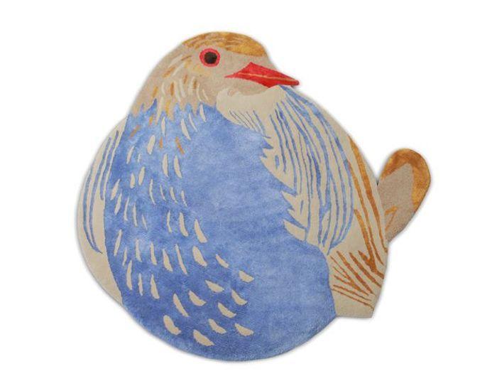 Tapis oiseau réalisé à la main pour enfant
