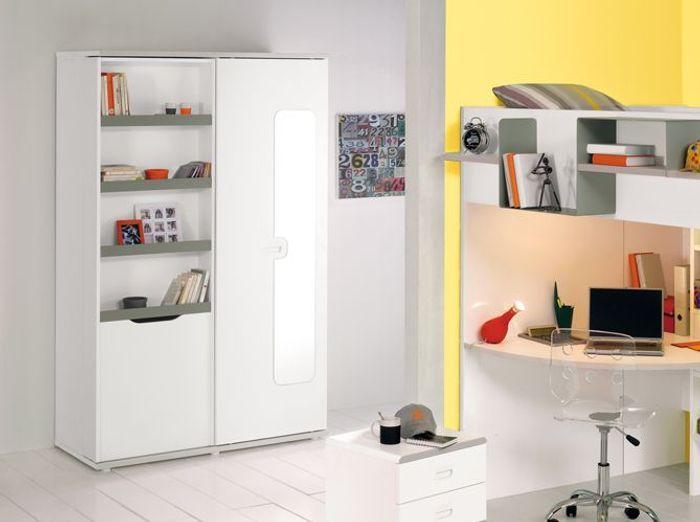 Penderie chambre enfant relooker armoire ancienne avec de for Rangement pratique chambre