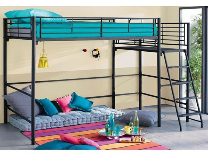 60 lits mezzanine pour gagner de la place elle d coration. Black Bedroom Furniture Sets. Home Design Ideas