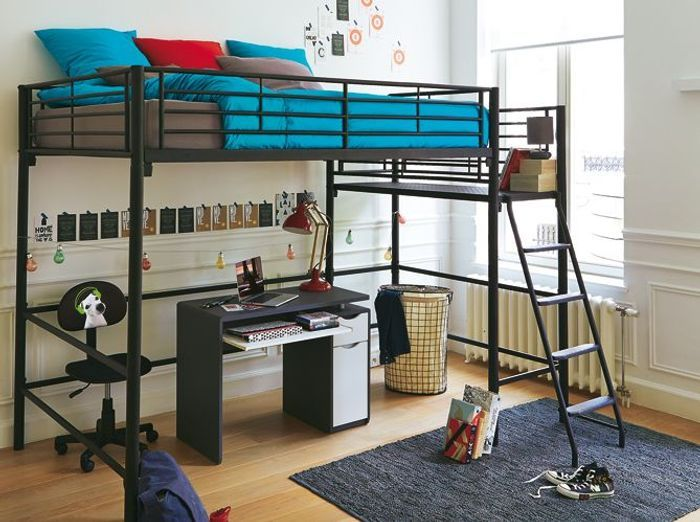 80 lits mezzanine pour gagner de la place elle d coration. Black Bedroom Furniture Sets. Home Design Ideas