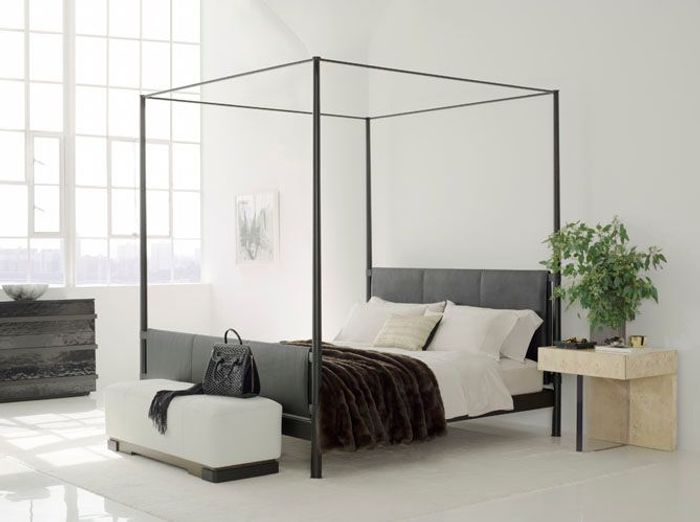 le lit baldaquin se refait une beaut elle d coration. Black Bedroom Furniture Sets. Home Design Ideas