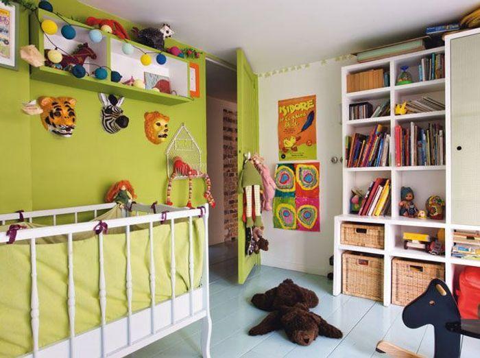 Une chambre d\'enfant colorée - Elle Décoration