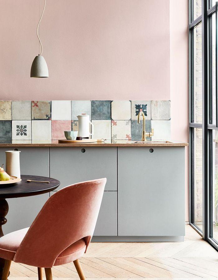 Cuisine color e d couvrez toutes nos inspirations elle - Cuisine grise et rose ...