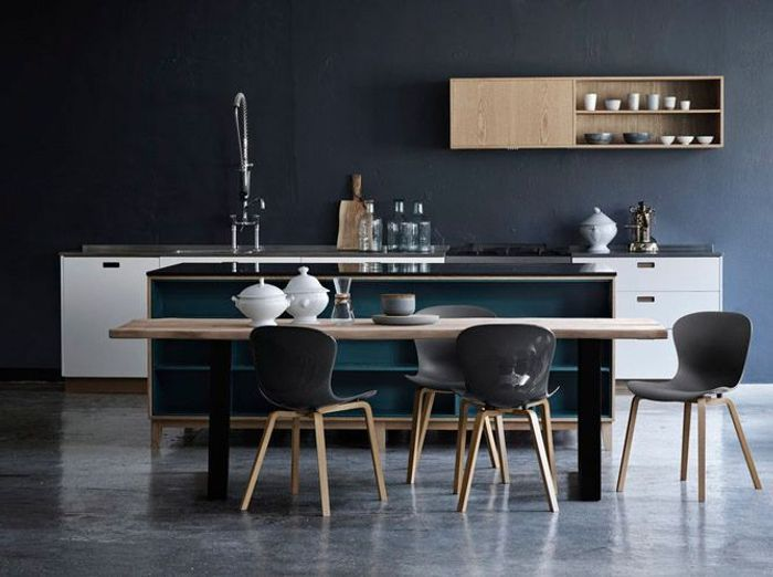 je fonds pour une cuisine bleue elle d coration. Black Bedroom Furniture Sets. Home Design Ideas