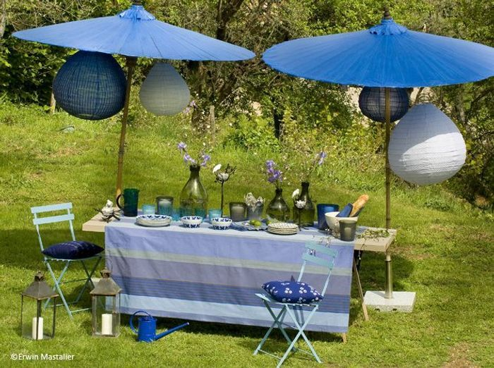 Deco de table ete bleu