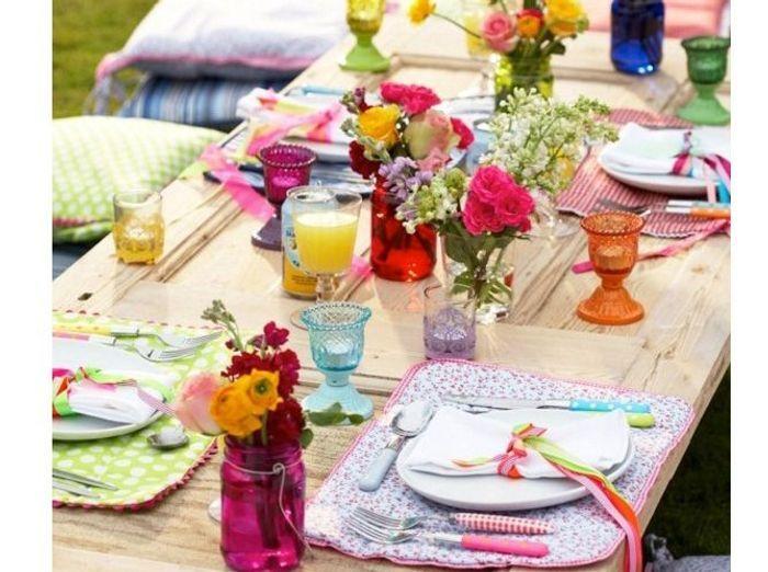 D co de table 50 id es pour l 39 t elle d coration - Deco de table printempssuggestions irresistibles ...