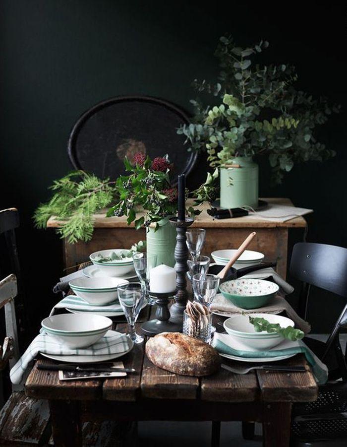 Décoration de table hiver : dépareillez votre linge de tablle
