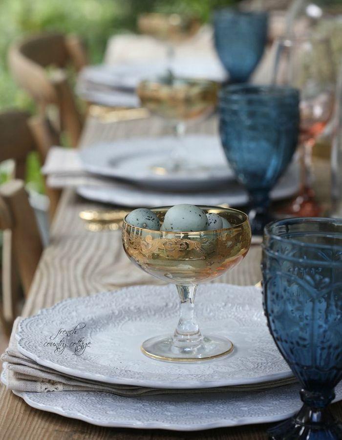 Une déco de table Art Déco pour Pâques