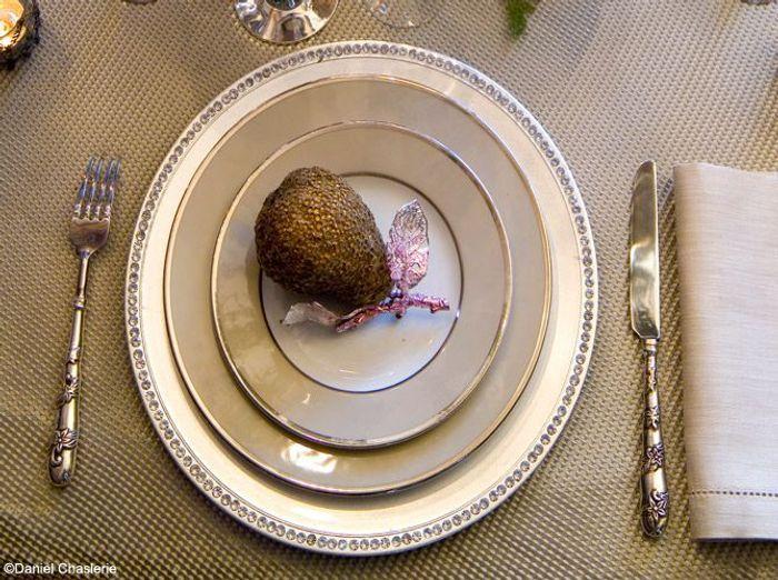 Assiette argentee strass