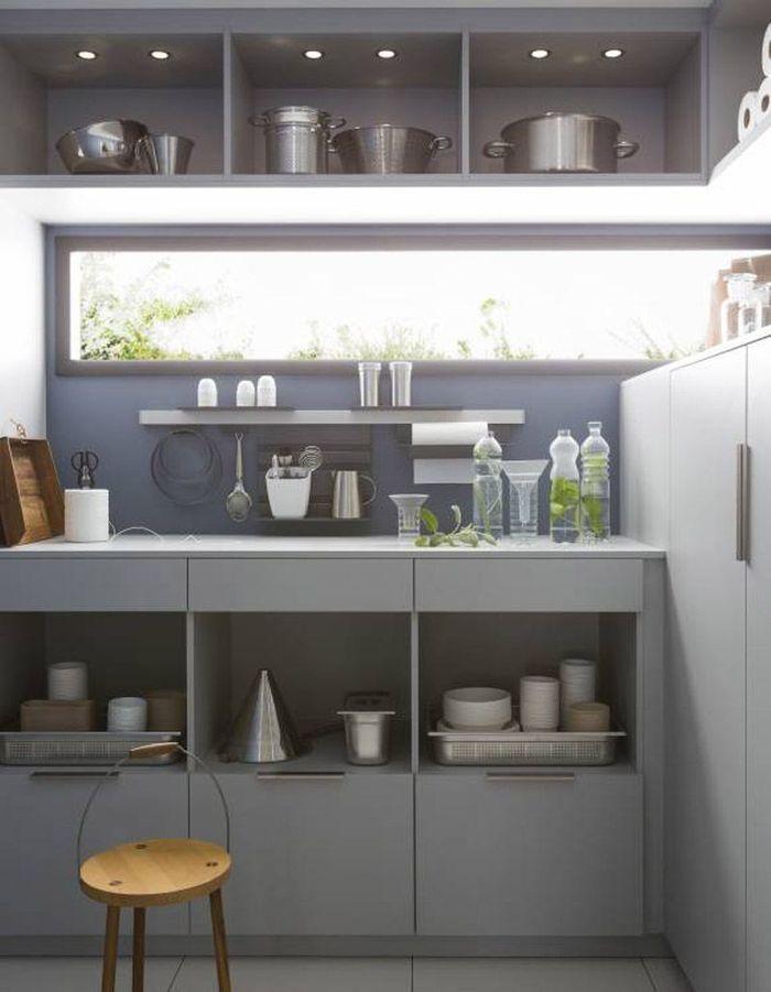 Meuble de cuisine : des rangements ouverts avec éclairage