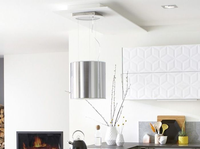 Stunning une hotte design comme une suspension with hotte - Hotte de cuisine design ...